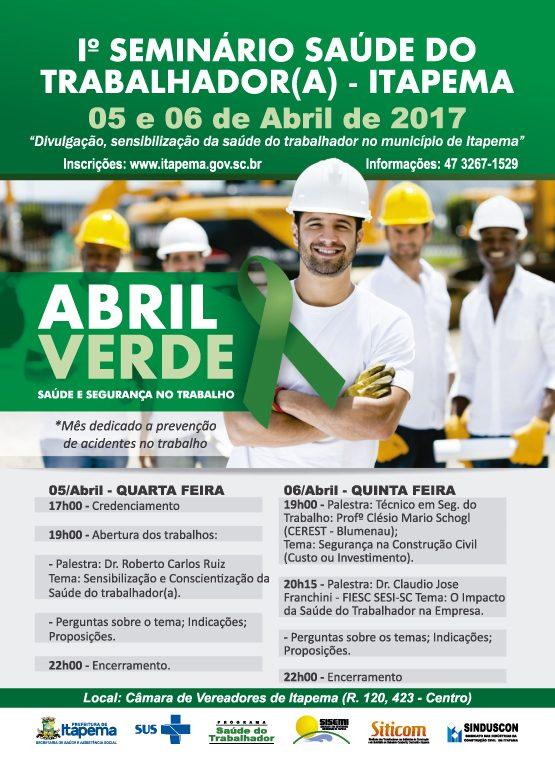 I° SEMINÁRIO MUNICIPAL EM SAÚDE DO TRABALHADOR
